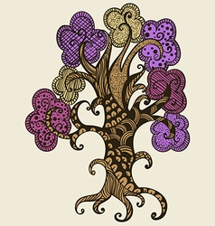 Hand drawn tree Doodle style vector image