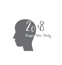 happy new years 2018 theme vector image