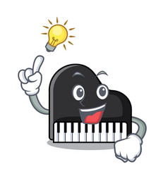 have an idea piano mascot cartoon style vector image