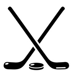 hockey stick icon simple black style vector image