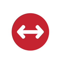 icon arrow different point in color circle vector image