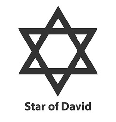 Icon of Star of David symbol Judaism religion sign vector image