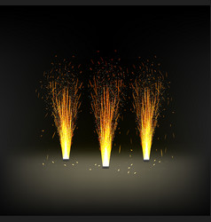 Installation for a fire fountain fireworks vector