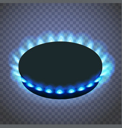 Isometric gas burner or hob on a transparent vector