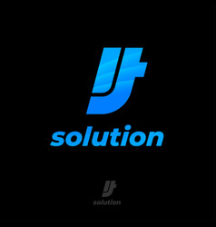 it solution logo company business consulting web vector image