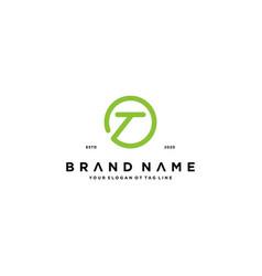 Letter t logo design vector