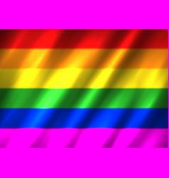 Lgbt rainbow flag background vector