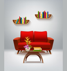 living room interior vector image vector image