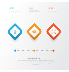 Machine icons set collection of cyborg hive vector