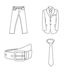Man and clothing symbol vector