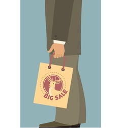 Man with shopping bag 380 400 vector