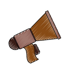 Megaphone old isolated vector