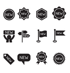 new label and sticker icon set vector image