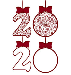 new year decoration theme vector image