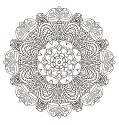 oriental beautiful ornament mandala round pattern vector image