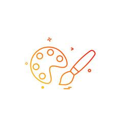 paint icon design vector image