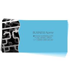 plumbing water pipes repair business card vector image
