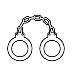 police handcuffs isolated icon design vector image