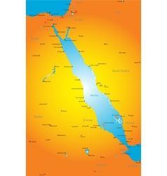 Red Sea region vector