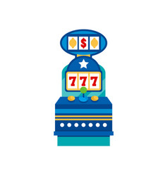 retro casino slot machine on a vector image
