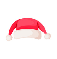 santa claus winter woolen hat isolated on white vector image
