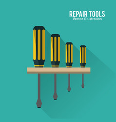 Screwdriver tool icon repair concept vector