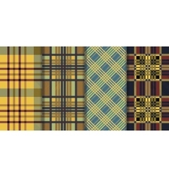 Set of seamless tartan patterns Plaid twill vector image