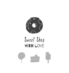 sweet shop logo template vector image