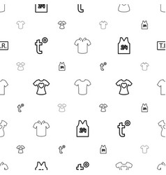 t icons pattern seamless white background vector image