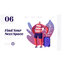 travel agency service website landing page vector image