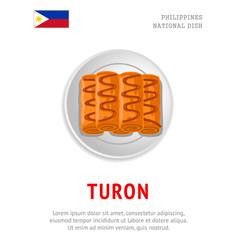 Turon national filipino dish vector