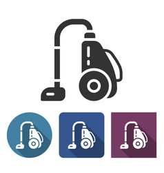 Vacuum cleaner icon in different variants with vector