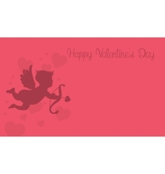 Valentine with cupid vector