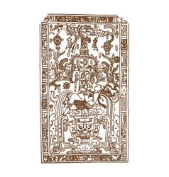 Vintage graphic maya glyphs inca and aztec zodiac vector