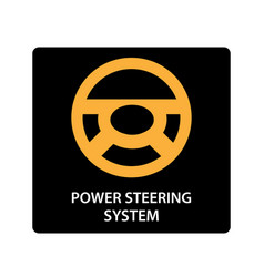 Warning dashboard car icon power steering system vector