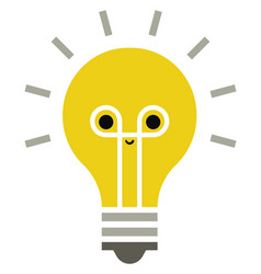 yellow lightbulb on white background vector image