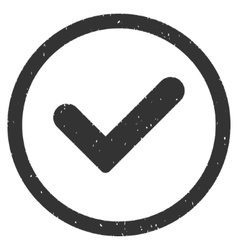 Yes Icon Rubber Stamp vector