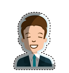 Young businessman avatar character vector