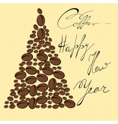 greeting card with coffee bean vector image vector image