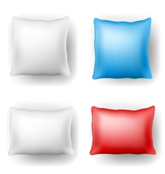 Pillow set vector image vector image