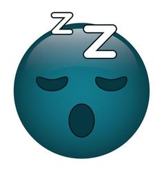 sleepy emoticon funny icon vector image vector image