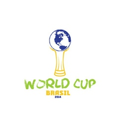 world cup brasil 2014 vector image vector image