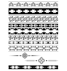 black tracery - elements for design vector image