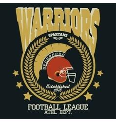 Football t-shirt Spartan Warrior vector image