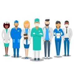 Medical team Hospital staff vector image vector image