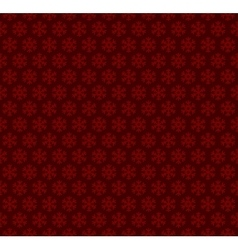Red Christmas Seamless Background with Snowflakes vector image