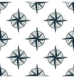 Seamless pattern with nautical compasses vector image