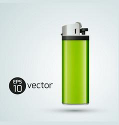 3d gas lighter template vector image