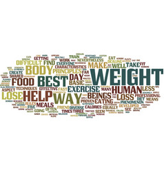 Best ways to lose weight text background word vector