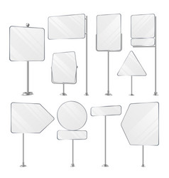 blank white outdoor holder stands set vector image